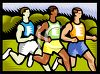 Men Running a Race clipart