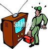 TV Repairman clipart
