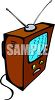 Console Television clipart