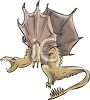 Winged Dragon clipart