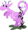 Whimsical Baby Dragon clipart