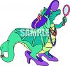 Young Dragon Playing Dress-Up clipart