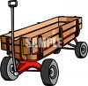 Wooden Sided Wagon clipart