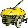 Wagon Full of Hay clipart