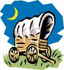 Cartoon of a Covered Wagon clipart