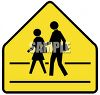 Yellow Crosswalk Sign clipart