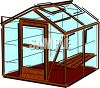 Green House Made of Glass clipart