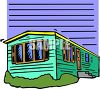 Single Wide Mobile Home clipart