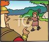 Bible Story - David and Goliath clipart