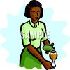 African American Pouring a Glass of Wine clipart