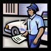 Patrolman Carrying a Police Report clipart