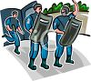 Policemen Wearing Riot Gear clipart