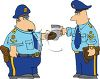 Two Patrolmen Eating Donuts clipart