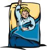 Child Taking Nap in Bed clipart