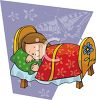 Girl Taking a Nap clipart