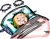 Girl Sleeping or Napping and Counting Sheep clipart