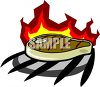Steak Cooking Over an Open Flame clipart