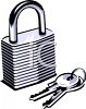 Padlock with Keys clipart