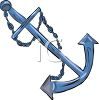Anchor for a Boat clipart