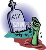 Hand Coming Up From a Grave clipart