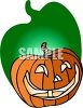 Smiling Jack-o-Lantern with a Shadow clipart