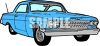 Classic Car: Blue Fifties Style Car clipart