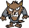 Halloween Cartoon Werewolf clipart