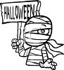 Halloween Mummy Costume clipart