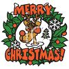Merry Christmas Reindeer clipart