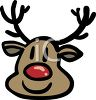 Cute Reindeer with Red Nose clipart