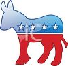 Red, White and Blue Democratic Donkey Symbol clipart