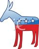 Stars and Stripes Democratic Donkey clipart