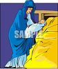 Nativity Scene - Mother Mary with Baby Jesus clipart
