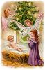 Nativity Scene - ANgels and Baby Jesus clipart