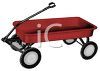 Classic Little Red Wagon Toy clipart