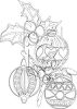 3 christmas ornaments clipart
