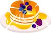 Stack Of Pancakes With Berries And Syrup clipart