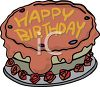 Birthday Cake With Roses Around It clipart