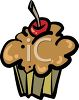 Cupcake With A Cherry On Top clipart