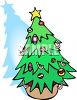 Tree Decorated With Candy Canes And Ornaments For Christmas clipart
