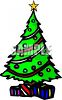 Christmas Tree With Presents Underneath It clipart