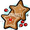 Star Shaped Gingerbread Christmas Cookies clipart