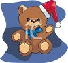 Teddy Bear Wearing A Santa Hat clipart
