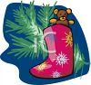 Teddy Bear In A Christmas Stocking clipart