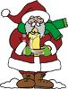 Santa Claus Holding A Candle clipart