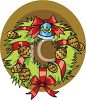 A Decorative Christmas Wreath clipart