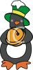 Christmas Penguin Holding Jingle Bell clipart