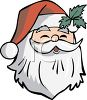 Jolly Santa Claus Face clipart