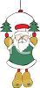 Santa Claus Christmas Ornament clipart