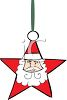 Star Shaped Santa Claus Christmas Ornament clipart